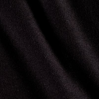 Designer French Terry Knit Solid Black