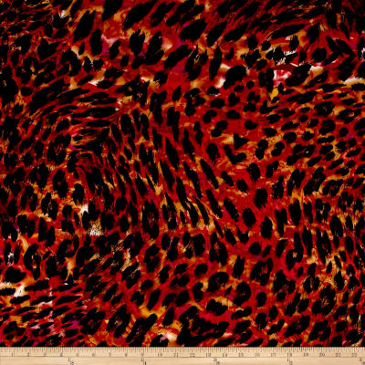 Stretch ITY Jersey Knit Cheetah Spice