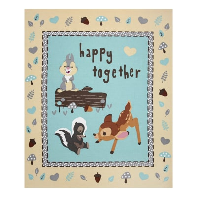 Disney  Bambi Happy Together 36 In. Panel Tan