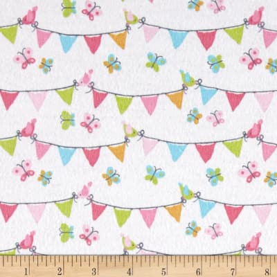 Michael Miller Nature Babies Flannel Pennant Party Pink