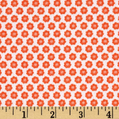 Michael Miller Nature Babies Flannel Lil Buds Coral