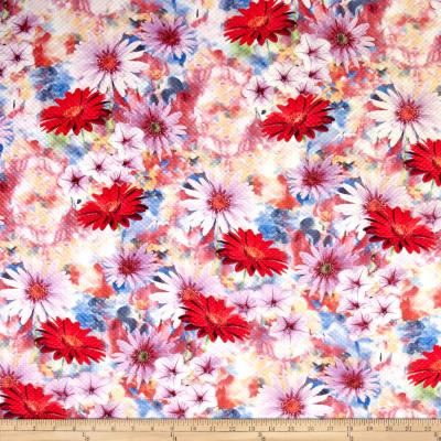 Telio Quilt Illusions Floral Double Knit Print Multi