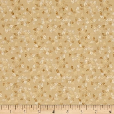 "108"" Wide Spangle Quilt Back Dotted Leaf Caramel"