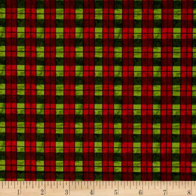 Traditional Poinsettia Plaid Green