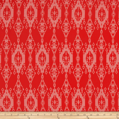 Peachskin Chandilier Print Red/White