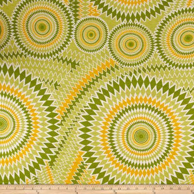 Jersey Knit Starburst Print Lime Yellow