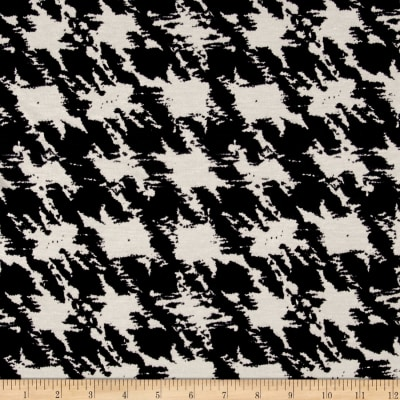 Jersey Knit Scattered Cloud Print Black White