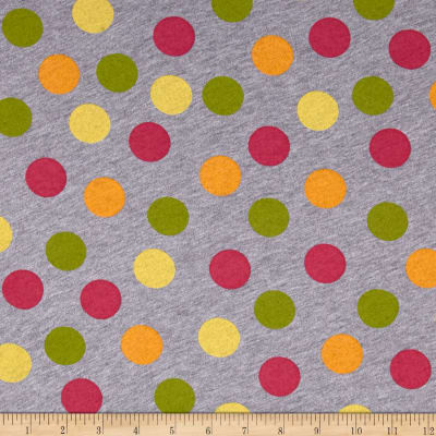 Jersey Knit Polka Dot Print Multi