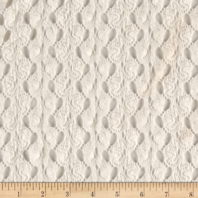 Novelty Crochet Kint White