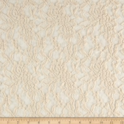 Stretch Floral Lace Ivory