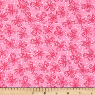 Lindsey Small Tossed Flowers Pink