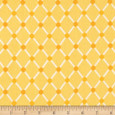 Kaufman Cozy Cotton Flannel Trellis Yellow