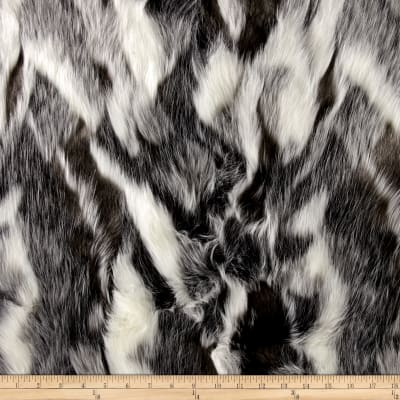 Faux Fur Forest Fox Black
