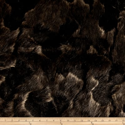 Faux Fur Arctic Fox Black/Brown
