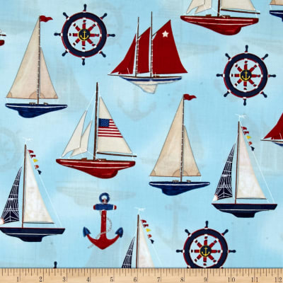 Kaufman Down By The Sea Collage Nautical
