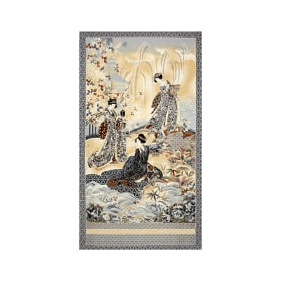 Kaufman Imperial Collection Metallic 24 In. Panel Antique