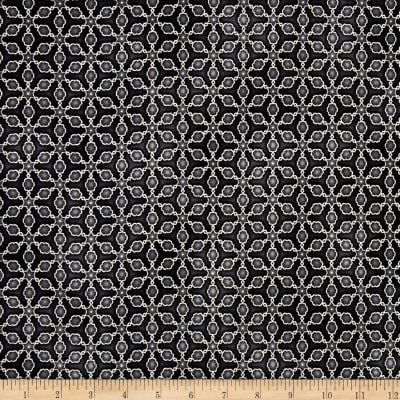 Kaufman Imperial Collection Metallic Grid Charcoal
