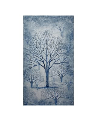Kaufman Sounds of the Woods Metallic 24 In. Panel Snow