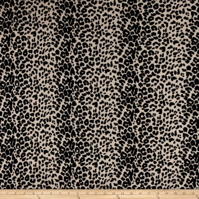 Hatchi Sweater Knit Cheetah Print Black Tan