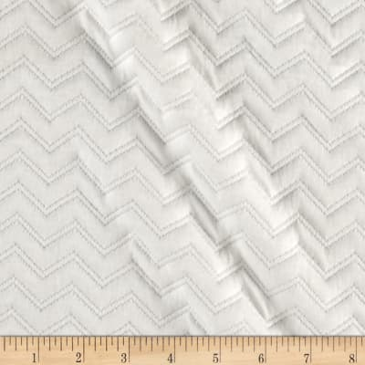 Quilted Knit Zig Zag Ivory
