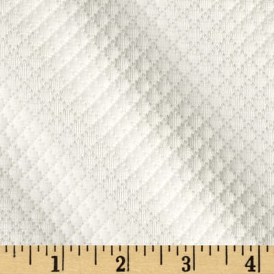 Quilted Floral Knit Ivory