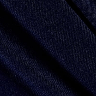 Stretch Rayon Sweater Knit Solid Navy