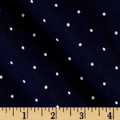 Kaufman Sailors Cotton Dobby Dots Marine