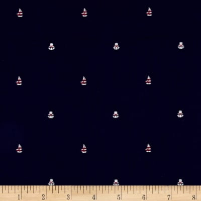 Kaufman Sailors Cotton Dobby Sailboat Navy