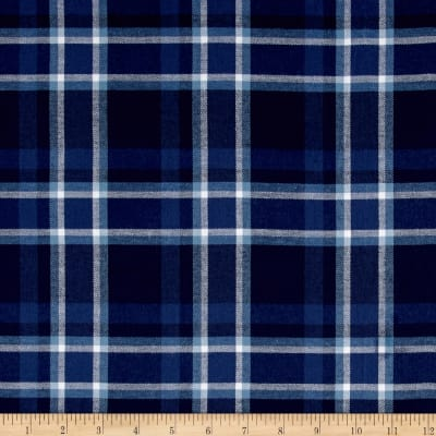 Kaufman Indigo Plaid Shirting Royal
