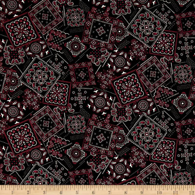 Kaufman Sevenberry Bandana Patch Black