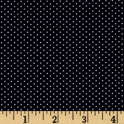 Kaufman Sevenberry Petite Basics Mini Dot Navy