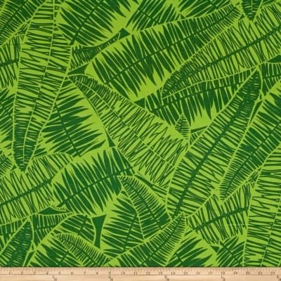 Kanvas Jungle Jive Palm Leaves Lime
