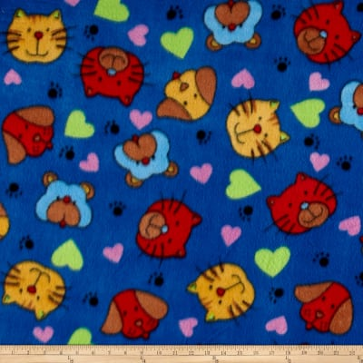 Polar Fleece Print Cat Dog Royal