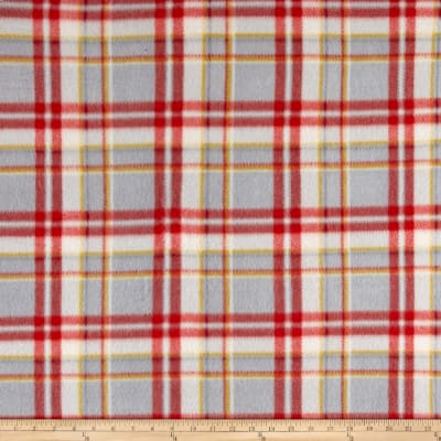 Polar Fleece Print Parson Plaid Black Red Grey