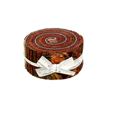 "Moda Autumn Elegance Metallic 2.5"" Jelly Roll"