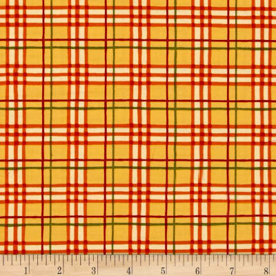 Moda Welcome Fall Plaid Golden
