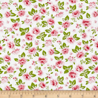 Moda Sew & Sew Garden Strawberry-WhipCream