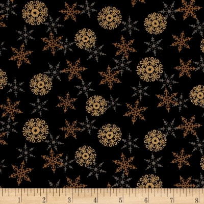 Moda Rejoice In The Season Layered Snowflakes Silent Night Black