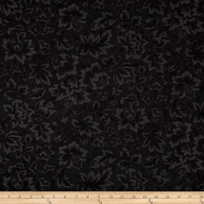 "Moda Midnight Clear 108"" Wide Quilt Back Jacobean Damask Midnight"
