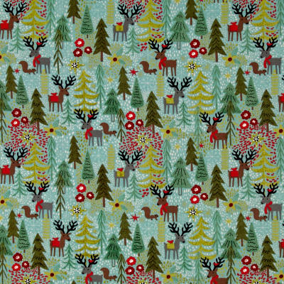 Moda Juniper Berry Reindeer Games Winter Sky