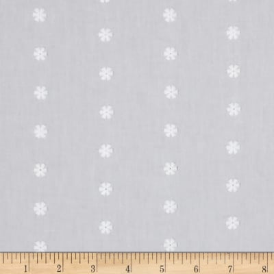 Kaufman Rebecca Embroidered Poplin Flower White