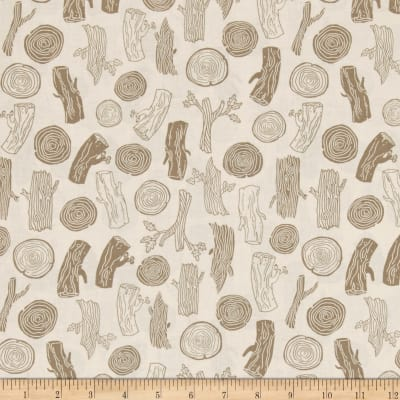 Dear Stella Foxtail Forest Woodcut Tan