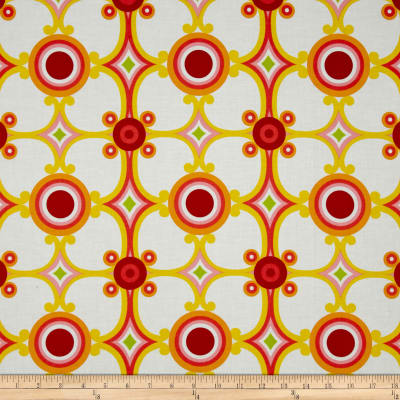 Contempo Palm Springs Medallion Orange