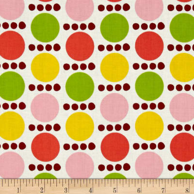 Contempo Palm Springs Spots &Dots Orange/Yellow/Pink