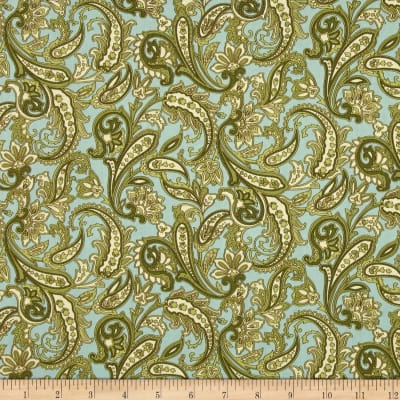 Indian Summer Paisley Cottage Pale Blue