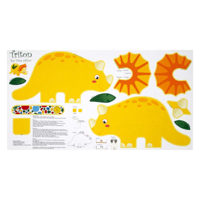 combine into 0457806 Jungle Club Dino Pillow 23 In. Panel Multi