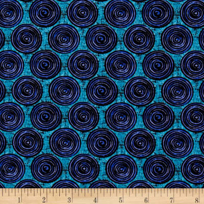 Urban Oasis Spiral Dot Blue/Teal