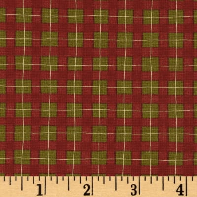 Moda Delightful December Plaid Berry-Pine