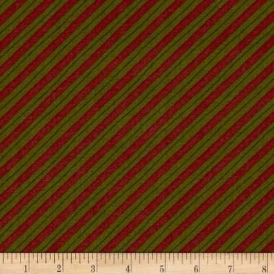 Moda Delightful December Candy Cane Stripe