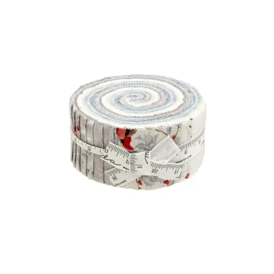 "Moda Forest Frost Glitter Metallic 2.5"" Jelly Roll"